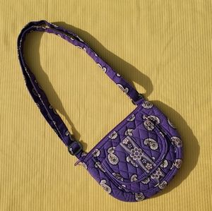Vera Bradley Purple Paisley Crossbody Purse Bag